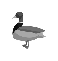 Mallard duck icon black monochrome style vector