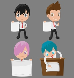 Man Worker Character Cute Present Set vector image