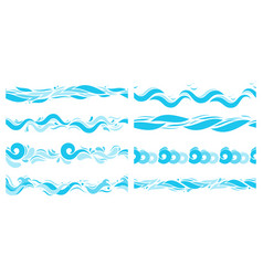 marine waves sea water wave swim pattern and vector image