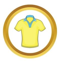 Mens polo icon vector image