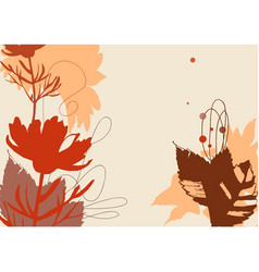 nature abstract background on fall theme vector image