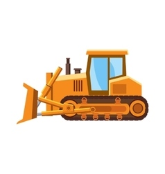 Orange bulldozer icon cartoon style vector image