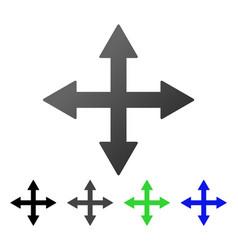 Quadro arrows flat gradient icon vector