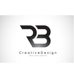 Rb r b letter logo design creative icon modern vector