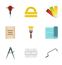 Repair tools icons set flat style vector image vector image