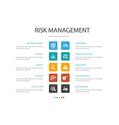 Risk management infographic 10 option concept vector