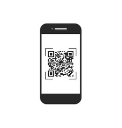 scan qr code with mobile phone symbol app vector image