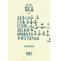 Sea font vector