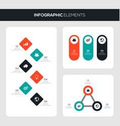 set business infographic template design vector image