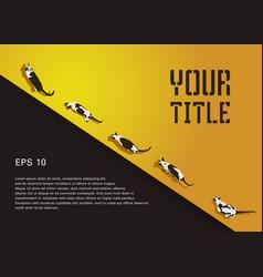 Siamese cat design diagonal composite typography vector
