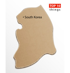 south korea map korean maps craft paper texture vector image