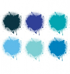 splash blue collection vector image