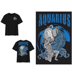 Streetwear graphic design aquarius vector