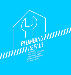 stylish plumbing repair poster vector image