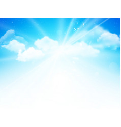 sunshine sky abstract blue clouds background vector image