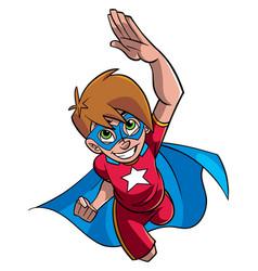 super boy flying vector image