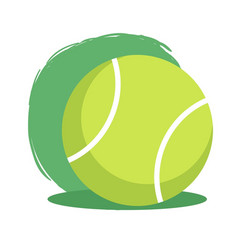 tennis ball sport vector image