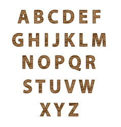 Textured tree font vector