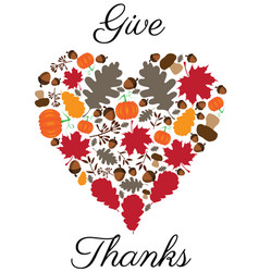 thanksgiving heart vector image