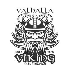 Valhalla asgard viking warrior t-shirt print vector