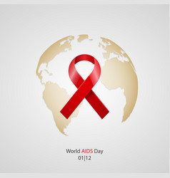 world aids day concept vector image