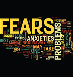 you can not hide or runaway from your fears and vector image