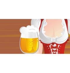 big beer mug vector image vector image