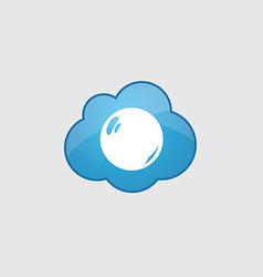 Blue cloud pearl icon vector image vector image