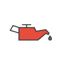 car engine oil icon vector image vector image