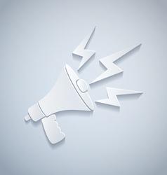megaphone paper vector image vector image
