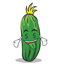 money mouth cucumber character cartoon collection vector image vector image