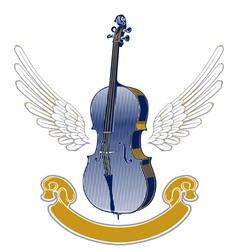music wing emblem vector image
