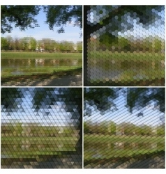 Nature landscape Collection of abstract vector image vector image