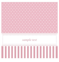Pink card or baby shower invitation with dots vector image vector image