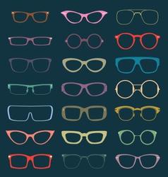 Retro Glasses Silhouettes vector image vector image