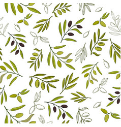 seamless olive pattern vector image