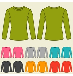 Set of templates colored sweatshirts for women vector image
