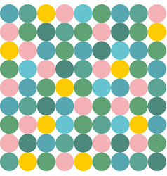 tile pattern with pink yellow and green polka dot vector image