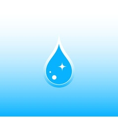 Water background with drop vector