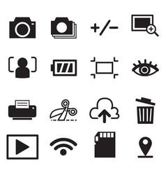 Camera mode icons symbol vector