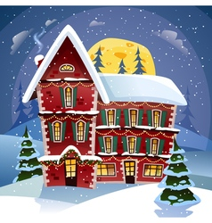 Christmas Night Poster vector image vector image