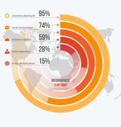 Circle informative infographics 5 options vector