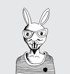 fashion of rabbit man vector image vector image
