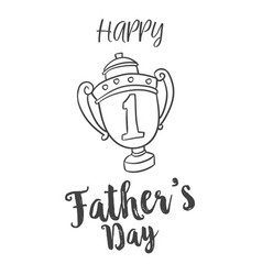 Father day hand draw design background vector