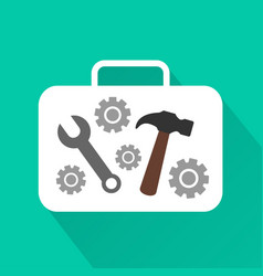 industrial modern design flat icon with long shado vector image vector image