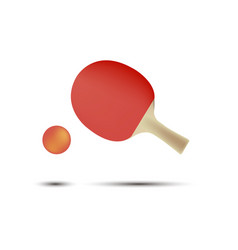 ping pong tennis table racket icon ball isolated vector image