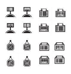 Price tag set and barcode design set vector