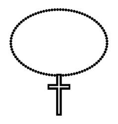 Religion cross icon vector image