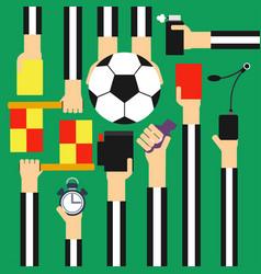 Soccer referee design flat vector