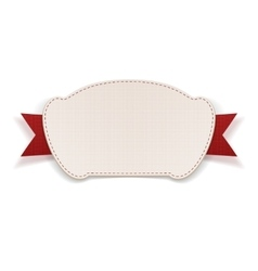 White Tag with red Ribbon vector image